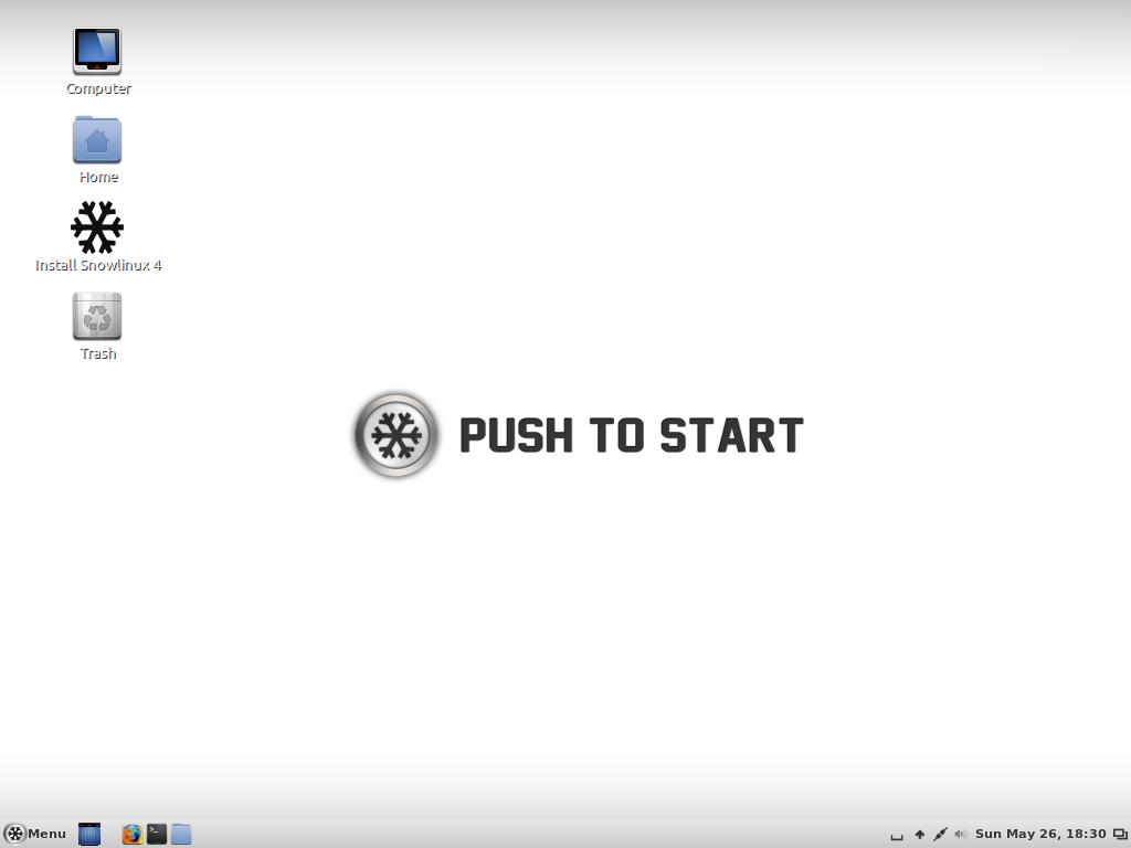 Screenshot of SnowLinux 4 Frosty, Cinnamon Edition, download Snowlinux 4 Cinnamon